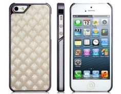 Amazon.com: Tanboo PC Plastic Electroplating Diamond Pattern Protective Case for iPhone 5 (white): Cell Phones & Accessories