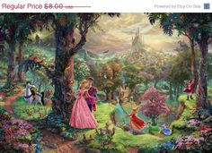 Thomas Kinkade - Disney Ill be honest.as an art history major I can't stand Thomas kinkade but these Disney paintings are my only exceptions! Cuz I love disney so much! Thomas Kinkade Disney Paintings, Thomas Kinkade Art, Kinkade Paintings, Oil Paintings, Painting Prints, Amazing Paintings, House Painting, Canvas Prints, Art Disney