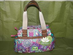 Multi Colored Lily Bloom Satchel