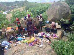 Washing clothes by the river, Ushafa Village, Abuja, Nigeria, #JujuFilms