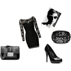 black, created by melissalank on Polyvore