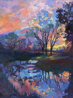 The colors are wonderful! KMSchmidt Landscape Paintings