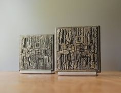Mid-Century Modern Brutalist Bookends - Paul Evans Style