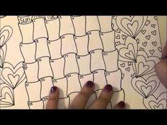 February Calendar Doodle - YouTube