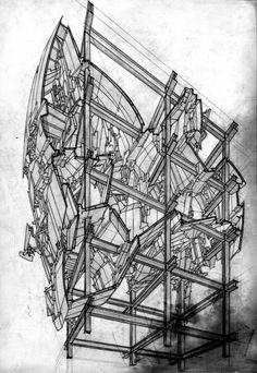 Lebbeus Woods, conceptual architect.