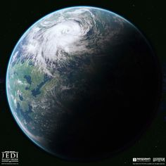 Star Wars Planets, Planets And Moons, Star Wars Games, Star Wars Jedi, Planet Design, Galactic Republic, Alien Planet, Treasure Planet, Astronomy