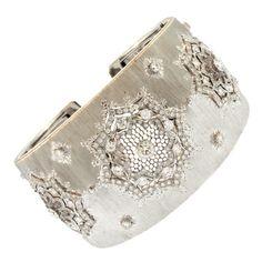Buccellati Diamond Cuff Bracelet | 1stdibs.com