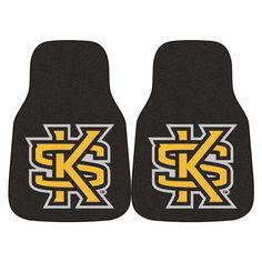 Kennesaw State Owls NCAA 2-Piece Printed Carpet Car Mats (18x27)