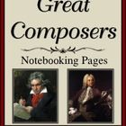The composers chosen for this set of notebooking pages were inspired by and came from the book, Spiritual Lives of the Great Composers by Patrick K...