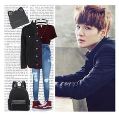 """Date w/ Suga (BTS)"" by a-kookie ❤ liked on Polyvore featuring Lipsy, Wet Seal, Rails, LC Lauren Conrad, Vans, Topshop, Silver Spoon Attire, bts, BangtanBoys and Suga"