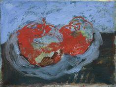 Anna Retulainen, Sarjasta kaksi omenaa, oil on canvas, 30 x 40 cm Still Life, Oil On Canvas, Anna, Photography, Paintings, Photograph, Paint, Painted Canvas, Fotografie