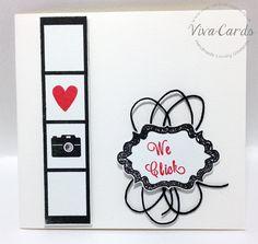 301 - Handmade Card - 'We Click'  #Valentine, #Film