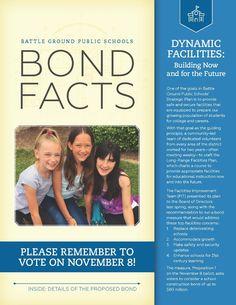 Battle Ground Public Schools to host Bond Information Nights Strategic Goals, Strategic Planning, Election Ballot, Middle School, High School, Bond Issue, Battle Ground, Schools First, School District