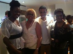 Sharon, Jacqueline and Justin Davis.  His Celebration in NYC.  What a wonderful time we had serving our gourmet tea