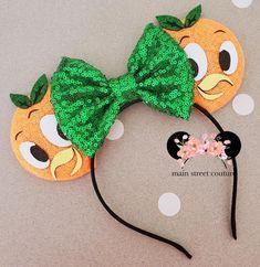 Orange Bird Flower and Garden Festival Ears, dole whip Minnie Ears, Floral Minnie Ears, minnie mouse ears, minnie mouse headband Minnie Mouse Headband, Disney Mouse Ears, Mickey Ears, Mickey Mouse, Orange Bird, Disney Crafts, Paper Flowers, Floral, Space Projects