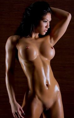 Sexy oil girl wrestling