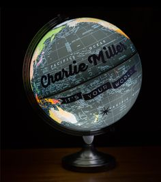 Custom Pushpin Globe Night-light