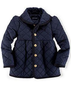 Ralph Lauren Toddler Girls' Quilted Shawl Collar Jacket