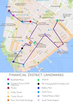 map of fidithe ultimate guide of things to do in the financial district nyc
