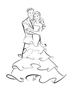 #wedding #illustration by http://www.AstridMuellerExclusive.com