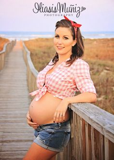 Our Pin-Up Style Maternity Shoot