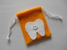 Sunset Gold Felt Tooth Fairy Bag  NEW by teensyturtle on Etsy, $5.00