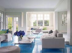 Blue floors @ modernjanedesign