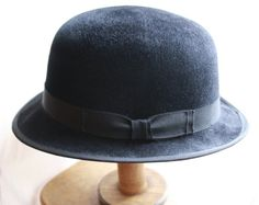 Men's Hat Classic Bowler Derby in Black  Made to by DerbyMillinery, $200.00