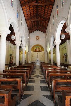 St. Joseph's Church, in Nazareth, is built on a site that is traditionally identified as the carpenter workshop of Joseph, and home of the holy family.