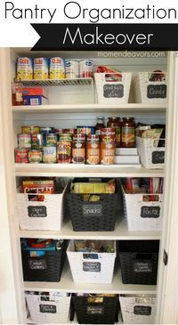 But with straight sided baskets so less wasted space. A disorganized pantry is a kitchen nightmare. Turn your cluttered kitchen pantry (or kitchen cabinets) into a storage dream with these great pantry organizers. Small Pantry Organization, Home Organisation, Storage Organization, Organized Pantry, Pantry Ideas, Small Pantry Closet, Garage Storage, Organize Small Pantry, Diy Garage