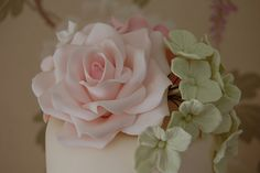 Rose on top tier. by Sweet Tiers Cakes (Hester), via Flickr