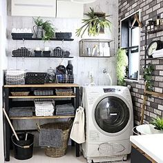 Home design for small space Laundry Room Inspiration, Home Decor Inspiration, Girls Room Design, Small Bathroom Makeover, Tiny Laundry Rooms, Trending Decor, Interior Design Living Room, Interior, Room