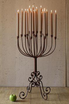 elegant multi taper candelabra \ rustic   $169.00