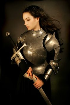 Put on the full armor of God.  At Last! A female warrior dressed in actual, functioning armor.