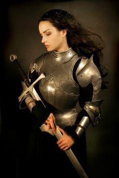 cosplay, dark hair, knights, medieval times, armor, longer hair, female warriors, warrior princess, sword