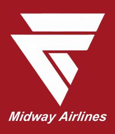 """Midway Airlines logo - I still have my """"wings""""! Midway Airlines, Airline Attendant, Business Facebook Page, American Air, Airline Logo, Airplane Travel, Toddler Travel, Commercial Aircraft, Old Signs"""
