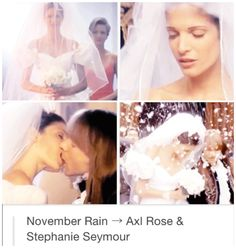 Guns N Roses November Rain Wedding Dress Stephanie Seymour Axl Rose, Rain Wedding, November Rain, Rock Legends, Guns N Roses, Couple Goals, Childhood Memories, Rock And Roll, Cute Dresses