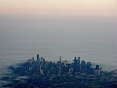 Chicago - with fog rolling in off Lake Michigan