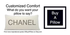 Chanel name pillow