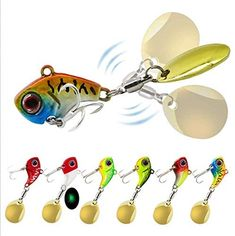 Nuguri 6Pcs Fishing Jigs Bass Lures Metal Jig Lure Crankbait Casting Sinker Spoons Spinner Bait Lures for Bass Trout