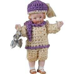 Tiny Hertwig All Bisque Child - 2.5 inch