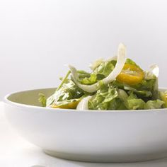 Mixed bitter greens and kumquat salad with anchovy dressing #lowcarb #salad #endive #anchovy #kumquat