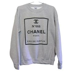 CHANEL No. 666 Sweatshirt (Select Size) ($25.99) found on Polyvore