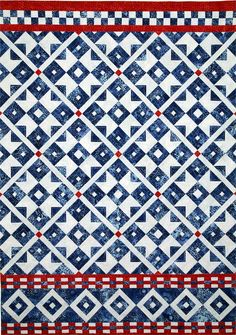 Scandinavian Sky Quilt Pattern HMD-106 (Wall Hanging, Intermediate) a lovely red white and blue combo