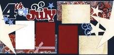"The ""Out On A Limb Scrapbooking"" Blog: 4th of July Page Kit"