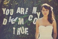 bride with side swept bangs & side ponytail