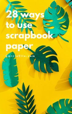 27 Uses for Scrapbook Paper - Carrie Elle Quick And Easy Crafts, Easy Crafts For Kids, Easy Diy Crafts, Easy Diy Projects, Simple Crafts, Paper Wall Decor, Diy Wall Decor, Diy Paper, Paper Crafts