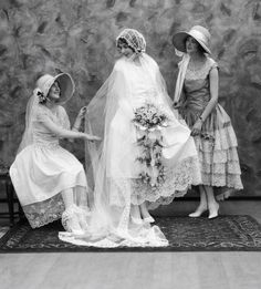 Bride and brides maids, early 1900's
