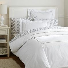 Pop Dot Duvet Cover + Sham, Light Grey #pbteen  I only like the duvet cover here, I would want something else to bring in color