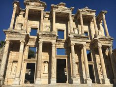 Turkey, the grand library of Celsus built by Romans in the ancient Greek city of Ephesus